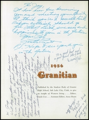 Page 5, 1956 Edition, Granite High School - Granitian Yearbook (Salt Lake City, UT) online yearbook collection