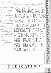 Page 9, 1931 Edition, East High School - Eastonia Yearbook (Salt Lake City, UT) online yearbook collection