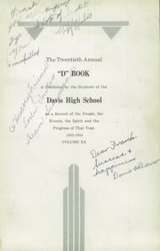 Page 5, 1934 Edition, Davis High School - D Book Yearbook (Kaysville, UT) online yearbook collection