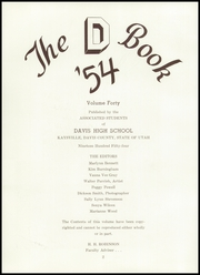 Page 6, 1954 Edition, Davis High School - D Book Yearbook (Kaysville, UT) online yearbook collection