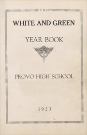 Page 5, 1923 Edition, Provo High School - Provost Yearbook (Provo, UT) online yearbook collection