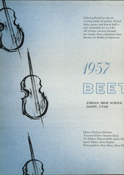 Page 6, 1957 Edition, Jordan High School - Beetdigger Yearbook (Sandy, UT) online yearbook collection