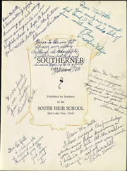 Page 9, 1933 Edition, South High School - Southerner Yearbook (Salt Lake City, UT) online yearbook collection