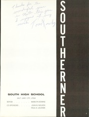 Page 5, 1962 Edition, South High School - Southerner Yearbook (Salt Lake City, UT) online yearbook collection