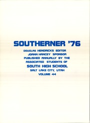 Page 12, 1976 Edition, South High School - Southerner Yearbook (Salt Lake City, UT) online yearbook collection