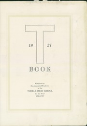 Page 5, 1927 Edition, Tooele High School - Yearbook (Tooele, UT) online yearbook collection