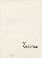 Page 7, 1954 Edition, Cedar City High School - Cedarian Yearbook (Cedar City, UT) online yearbook collection