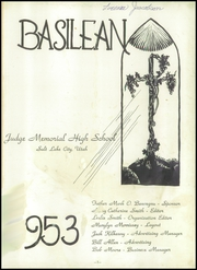 Page 3, 1953 Edition, Judge Memorial Catholic High School - Basilean Yearbook (Salt Lake City, UT) online yearbook collection