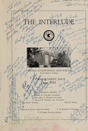 Page 5, 1953 Edition, Central High School - Interlude Yearbook (South Bend, IN) online yearbook collection