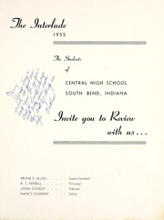 Page 5, 1955 Edition, Central High School - Interlude Yearbook (South Bend, IN) online yearbook collection