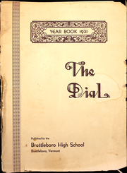 1931 Edition, Brattleboro Union High School - Colonel Yearbook (Brattleboro, VT)