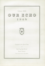 Page 9, 1948 Edition, Spaulding High School - Our Echo Yearbook (Barre, VT) online yearbook collection