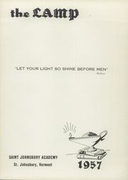 Page 5, 1957 Edition, St Johnsbury Academy - Lamp Yearbook (St Johnsbury, VT) online yearbook collection