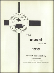Page 5, 1959 Edition, Mount Saint Joseph Academy - Mount Yearbook (Rutland, VT) online yearbook collection