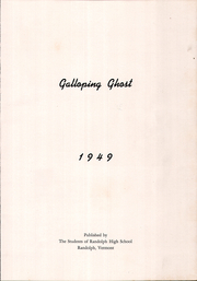 Page 3, 1949 Edition, Randolph Union High School - Galloping Ghost Yearbook (Randolph, VT) online yearbook collection