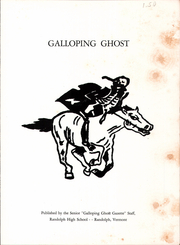 Page 3, 1954 Edition, Randolph Union High School - Galloping Ghost Yearbook (Randolph, VT) online yearbook collection