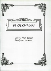 Page 5, 1984 Edition, Oxbow High School - Olympian Yearbook (Bradford, VT) online yearbook collection