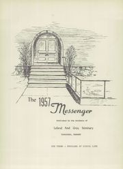 Page 5, 1957 Edition, Leland and Gray High School - Messenger Yearbook (Townshend, VT) online yearbook collection