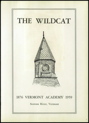 Page 5, 1959 Edition, Vermont Academy - Wildcat Yearbook (Saxtons River, VT) online yearbook collection
