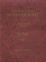 Page 1, 1951 Edition, Richford High School - Searchlight Yearbook (Richford, VT) online yearbook collection