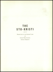 Page 5, 1957 Edition, Stowe High School - Sto Kristi Yearbook (Stowe, VT) online yearbook collection