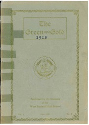 1928 Edition, West Rutland High School - Green and Gold Yearbook (West Rutland, VT)