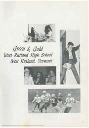 Page 5, 1971 Edition, West Rutland High School - Green and Gold Yearbook (West Rutland, VT) online yearbook collection