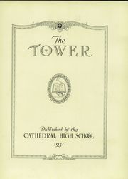 Page 7, 1931 Edition, Cathedral High School - Tower Yearbook (Burlington, VT) online yearbook collection