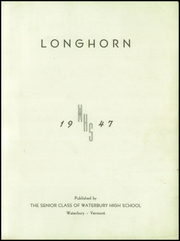 Page 3, 1947 Edition, Waterbury High School - Longhorn Yearbook (Waterbury, VT) online yearbook collection