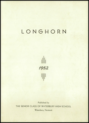 Page 3, 1952 Edition, Waterbury High School - Longhorn Yearbook (Waterbury, VT) online yearbook collection