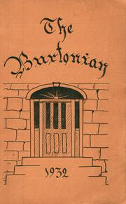 Page 1, 1932 Edition, Burr and Burton Academy - Burtonian Yearbook (Manchester, VT) online yearbook collection