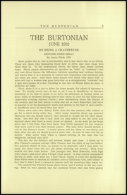 Page 9, 1932 Edition, Burr and Burton Academy - Burtonian Yearbook (Manchester, VT) online yearbook collection