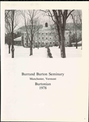Page 9, 1978 Edition, Burr and Burton Academy - Burtonian Yearbook (Manchester, VT) online yearbook collection