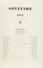 Page 3, 1955 Edition, McIndoes Academy - Spitfire Yearbook (McIndoes, VT) online yearbook collection