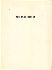 Page 7, 1940 Edition, University of Arizona - Desert Yearbook (Tucson, AZ) online yearbook collection