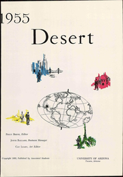 Page 7, 1955 Edition, University of Arizona - Desert Yearbook (Tucson, AZ) online yearbook collection