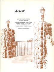 Page 5, 1965 Edition, University of Arizona - Desert Yearbook (Tucson, AZ) online yearbook collection
