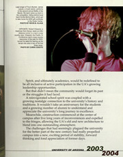 Page 9, 2004 Edition, University of Arizona - Desert Yearbook (Tucson, AZ) online yearbook collection