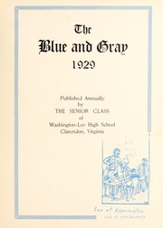 Page 9, 1929 Edition, Washington Lee High School - Blue and Gray Yearbook (Arlington, VA) online yearbook collection