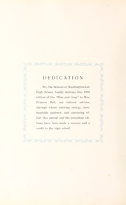 Page 10, 1930 Edition, Washington Lee High School - Blue and Gray Yearbook (Arlington, VA) online yearbook collection
