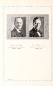 Page 12, 1930 Edition, Washington Lee High School - Blue and Gray Yearbook (Arlington, VA) online yearbook collection
