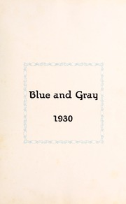 Page 7, 1930 Edition, Washington Lee High School - Blue and Gray Yearbook (Arlington, VA) online yearbook collection
