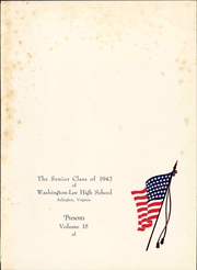 Page 7, 1942 Edition, Washington Lee High School - Blue and Gray Yearbook (Arlington, VA) online yearbook collection