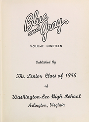 Page 5, 1946 Edition, Washington Lee High School - Blue and Gray Yearbook (Arlington, VA) online yearbook collection