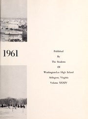 Page 7, 1961 Edition, Washington Lee High School - Blue and Gray Yearbook (Arlington, VA) online yearbook collection