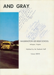 Page 7, 1964 Edition, Washington Lee High School - Blue and Gray Yearbook (Arlington, VA) online yearbook collection