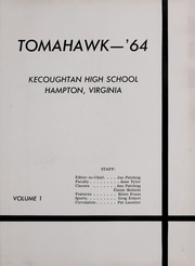 Page 5, 1964 Edition, Kecoughtan High School - Tomahawk Yearbook (Hampton, VA) online yearbook collection