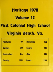 Page 5, 1978 Edition, First Colonial High School - Heritage Yearbook (Virginia Beach, VA) online yearbook collection