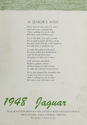 Page 5, 1948 Edition, Falls Church High School - Jaguar Yearbook (Falls Church, VA) online yearbook collection