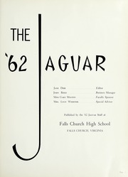 Page 5, 1962 Edition, Falls Church High School - Jaguar Yearbook (Falls Church, VA) online yearbook collection